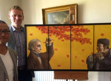 New portrait of Wordsworth and Bashō unveiled at Rydal Mount