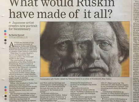 "My solo art project ""Conversation with Ruskin"" appeared in the Westmorland Gazette"