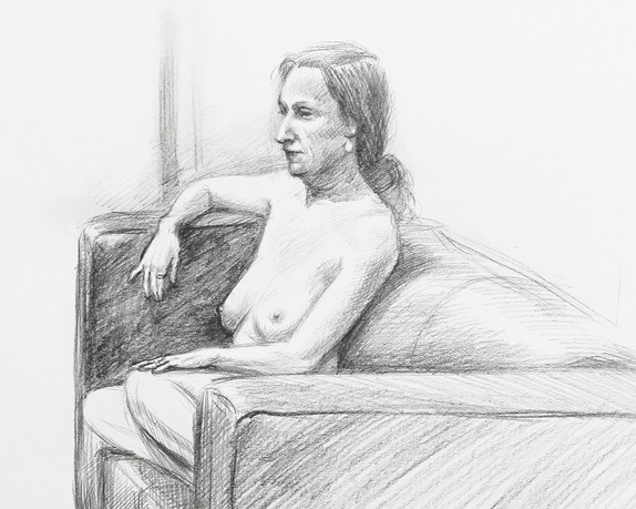Nude on a Sofa - detail