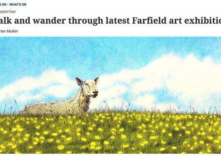 "The Westmorland Gazette featured my solo exhibition ""Sanpo"""