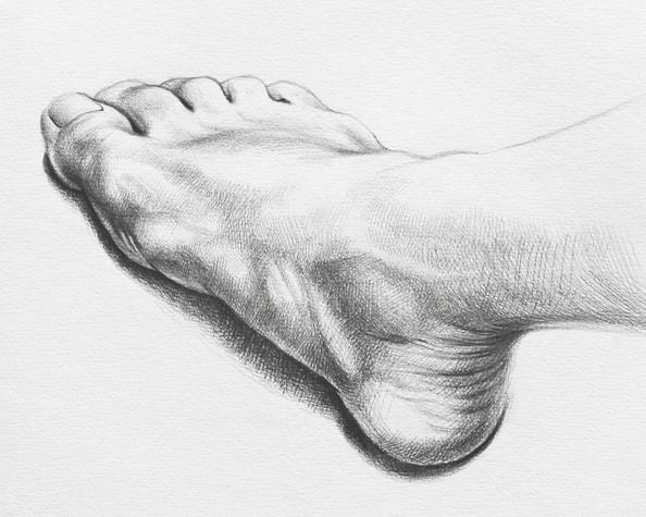 Artist's Foot - detail