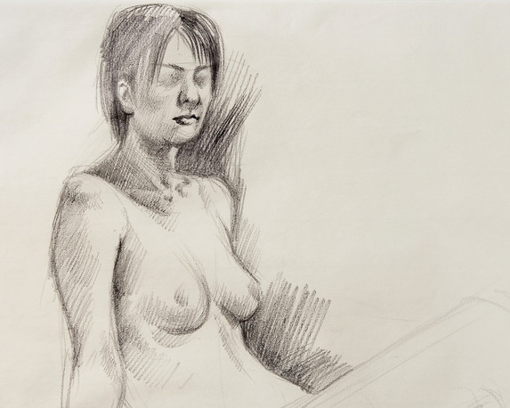 Female Nude (Study) #03 - detail