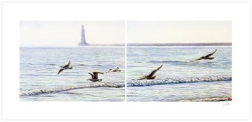 Seagulls (Diptych)