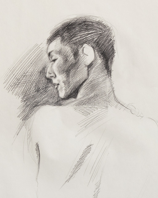 Male Nude (Study) #01 - detail
