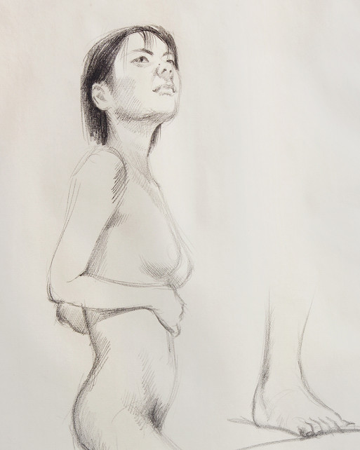 Female Nude (Study) #02 - detail