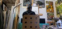 Hideyuki Sobue at his studio