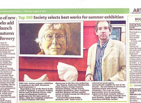 My work was shown in the Westmorland Gazette