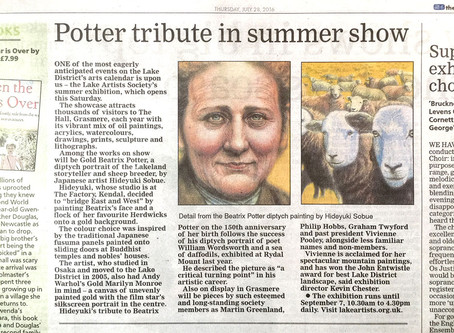 Gold Beatrix Potter featured in the Westmorland Gazette