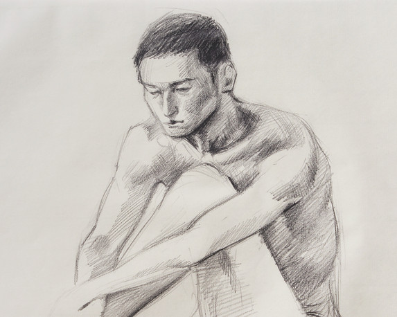 Male Nude (Study) #03 - detail