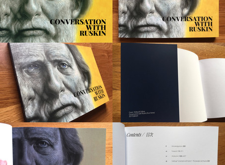 "The commemoration book for my solo art project ""Conversation with Ruskin"" published"