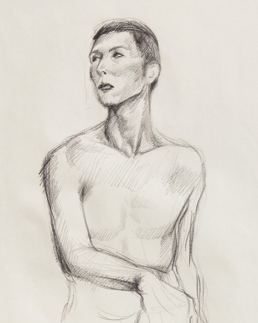 Male Nude (Study) #02 - detail