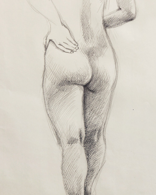 Female Nude (Study) #01 - detail