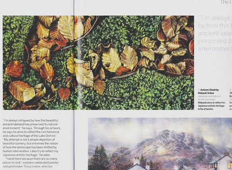My work was featured in Paint & Draw magazine