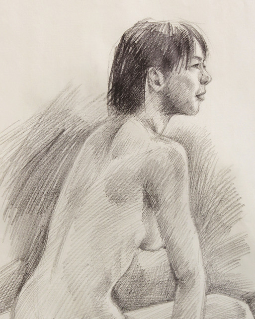 Female Nude (Study) #04 - detail