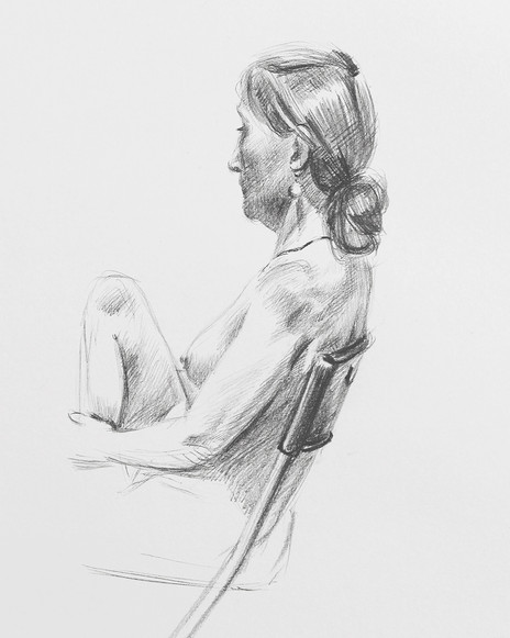 Nude in a Chair - detail