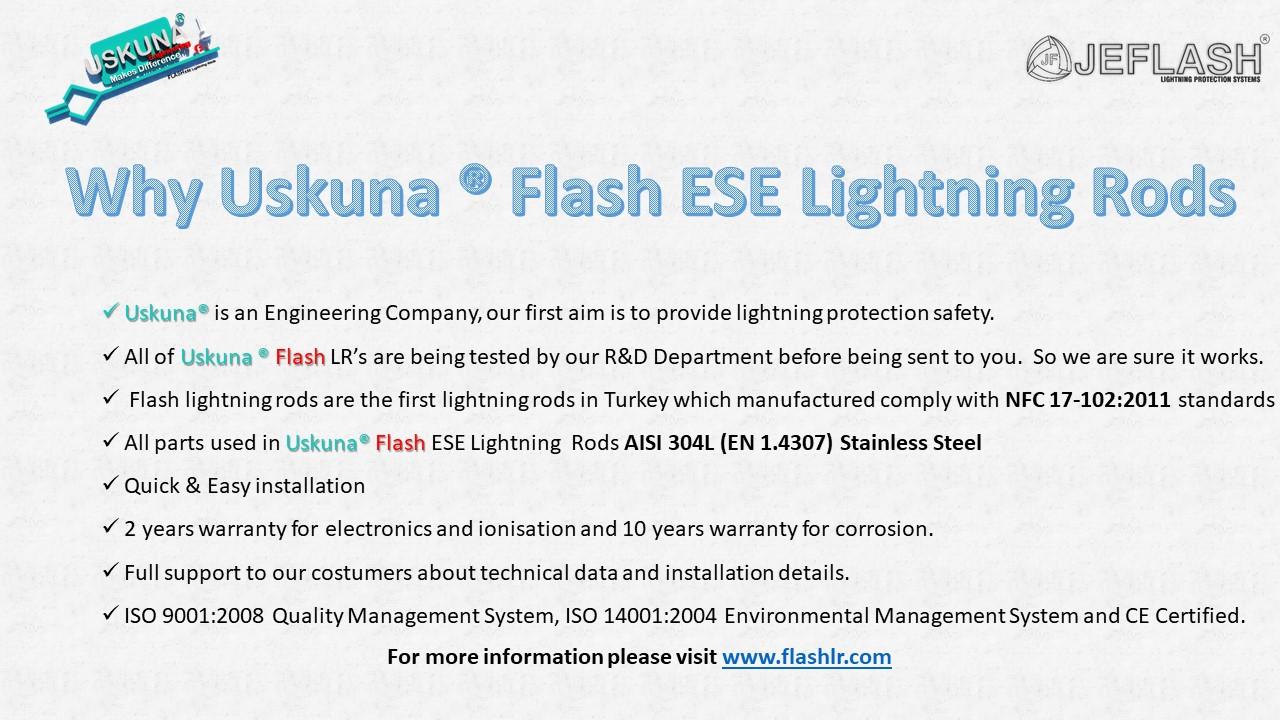 Why Uskuna ® Flash ESE Lightning Rods