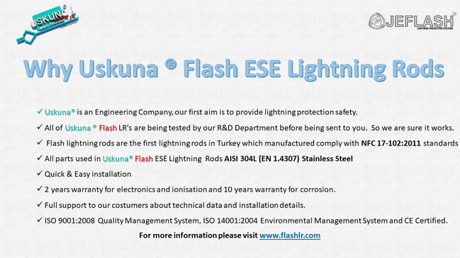 Why Uskuna ® Flash ESE Lightning Rods