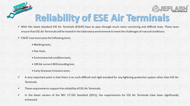 Reliability of ESE Air Terminals