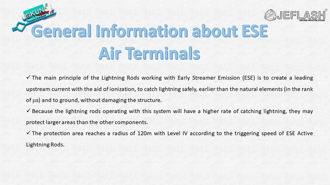 General Information about ESE  Air Terminals