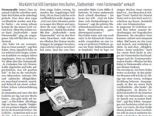 """Ein Artikel im """"Märkischen Sonntag""""...."""