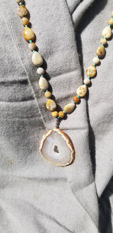 Shaved Quartz Druzy Necklace