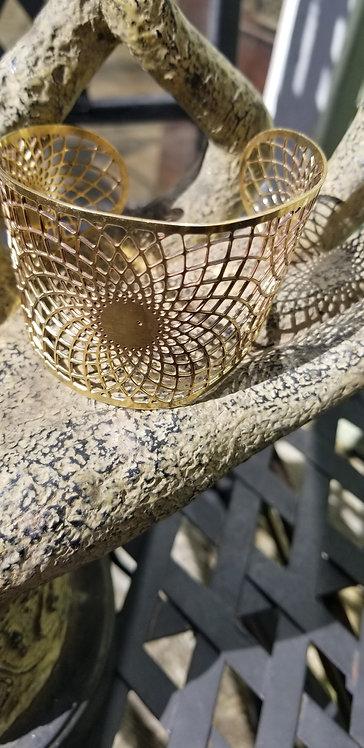 Brass Web Cuff