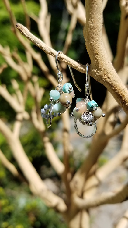 Handmade Sterling Silver Gemstone Earring