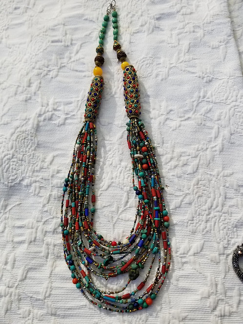 Multi-Strand Necklace From Nepal