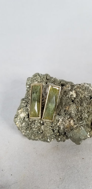 Labradorite Post Earring