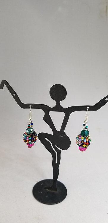 Beaded Guatemalan Earring