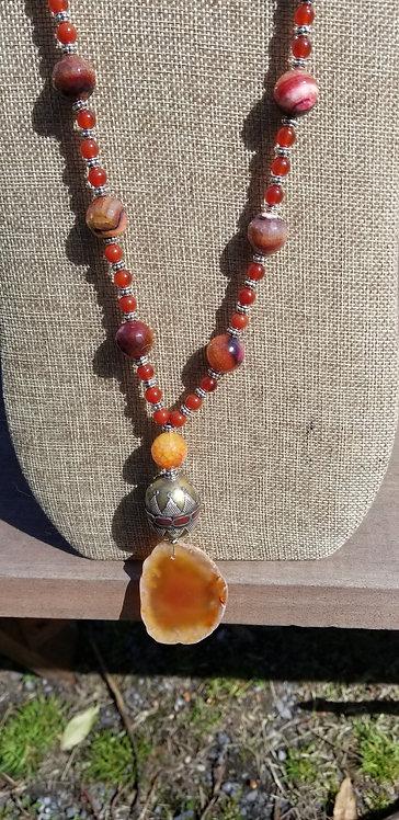 Carnelian Pendant Necklace