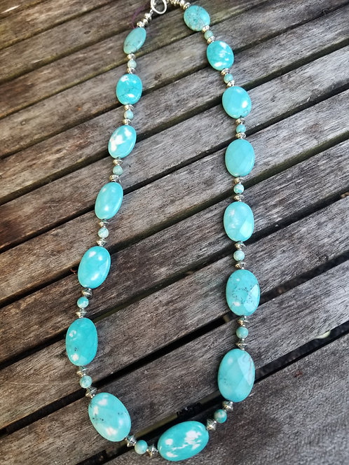 Faceted Turquoise Necklace