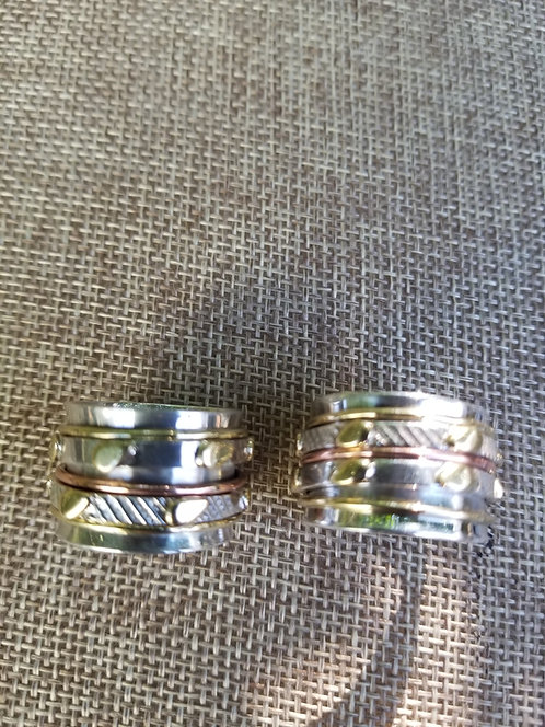 Sterling. Brass and Copper Ring