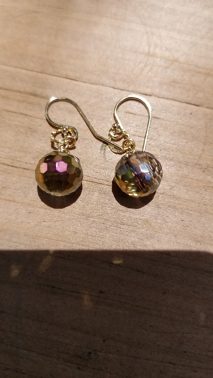 Irridescent  Swarovski Crystal Earring