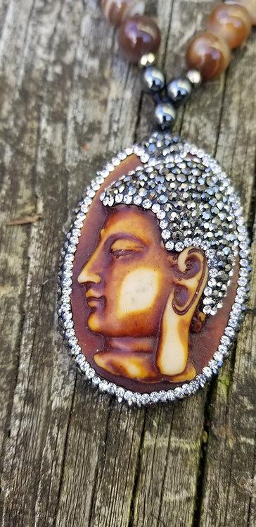 Mystical Medallion With Hematite Beads