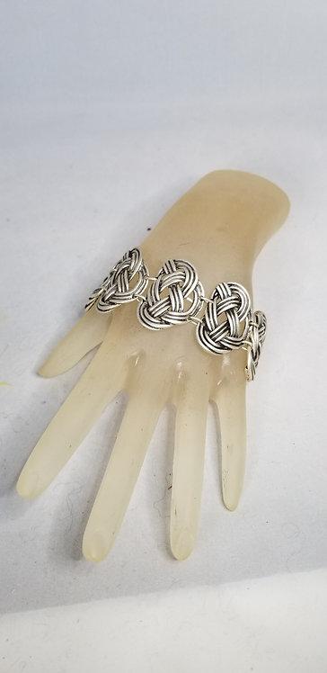 Braided Pewter Link Bracelet