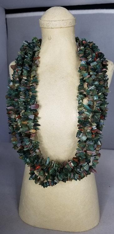 Green Serpentine Chip Necklace