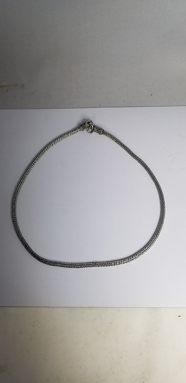 Basic Sterling Silver Braided Necklace
