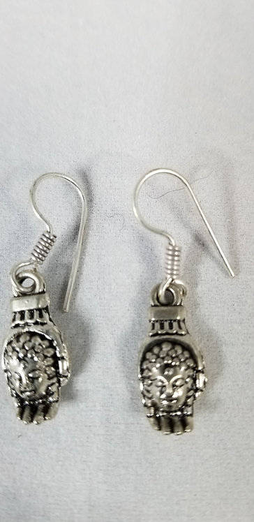 Tiny silver Drop Earrings