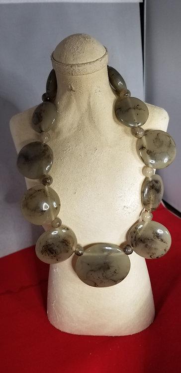 Unique Horn Disc Necklace
