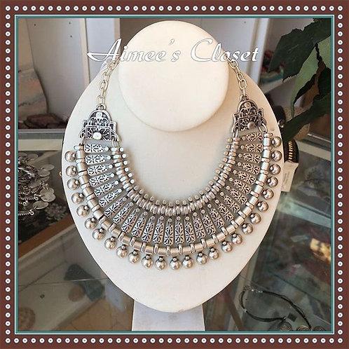 Ornate Turkish Pewter Necklace