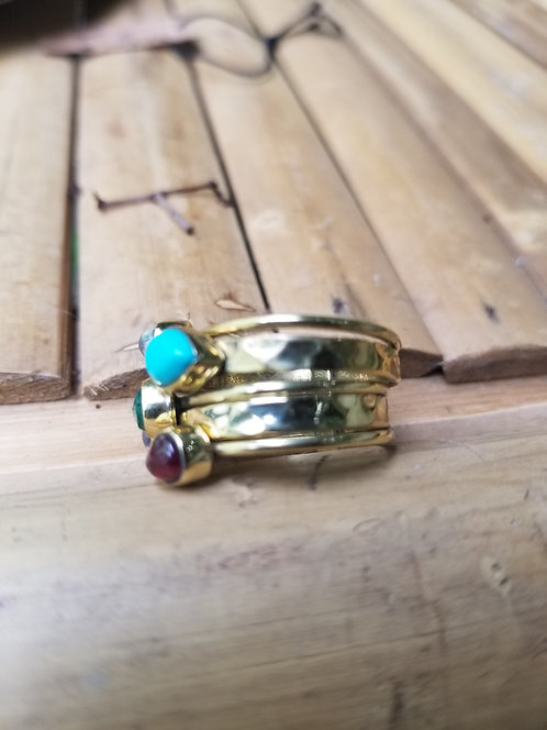 Brass Five Band Ring