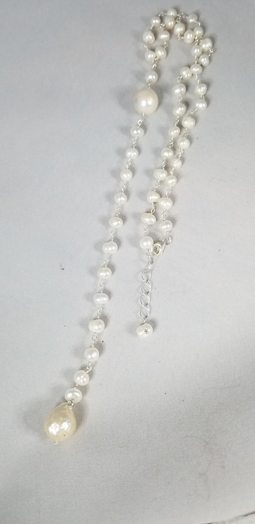 Pearl and Link Necklace