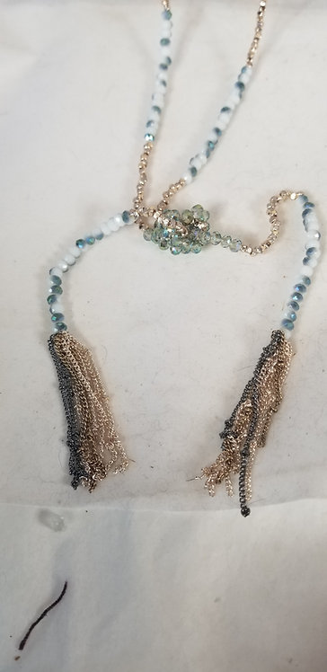 Knotted Bolero Thin Beads Necklace