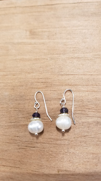 Perfect Cultured Pearl Drop Earring