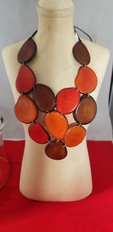 Rustic Red Tagua Necklace