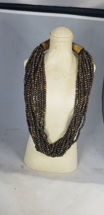 Very Brown Beaded Necklace