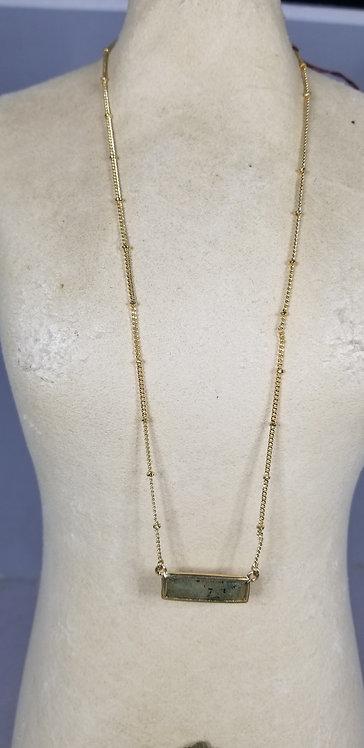 Labradorite Gold Chain Costume Necklace
