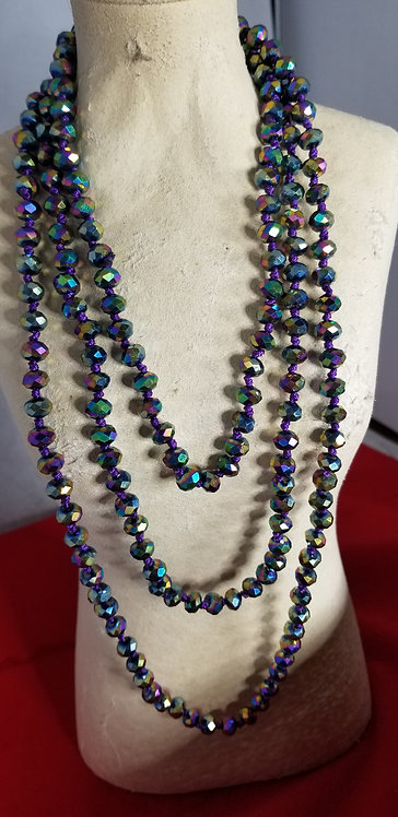 Very Long Faceted Necklace