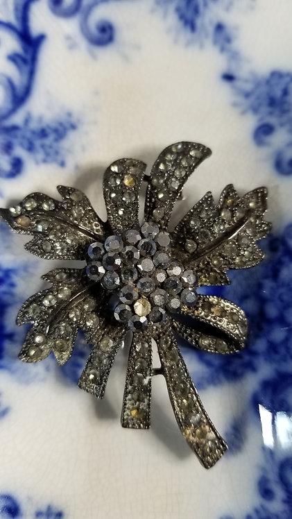 Vintage Grey Pyrite Metal Pin